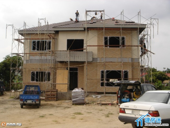 轻钢结构别墅施工之外墙干挂