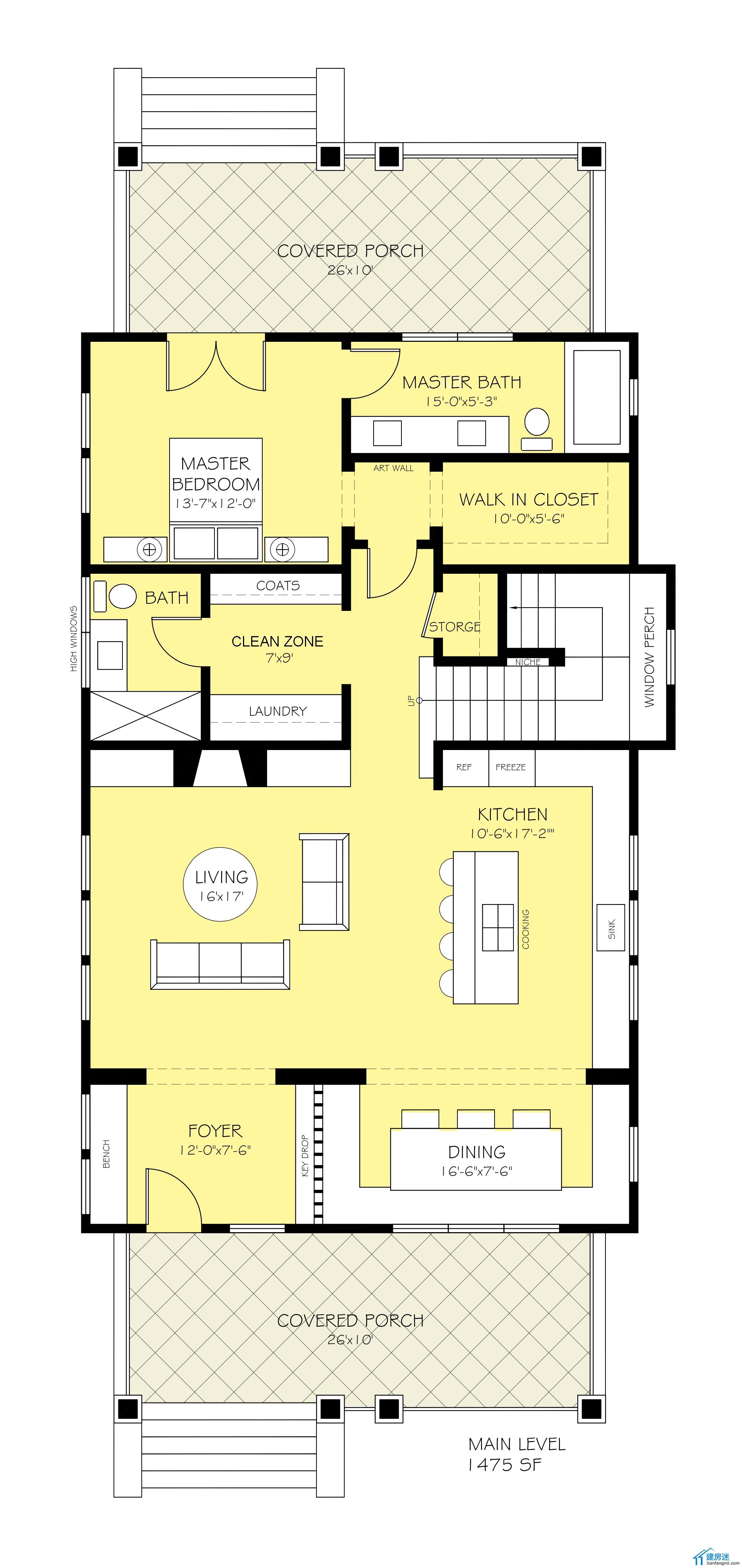 新农村自建房设计图,两层尖顶农村自建别墅设计图