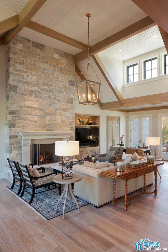 两层带地下室新农村自建房屋设计图,2014美式别墅设计效果图