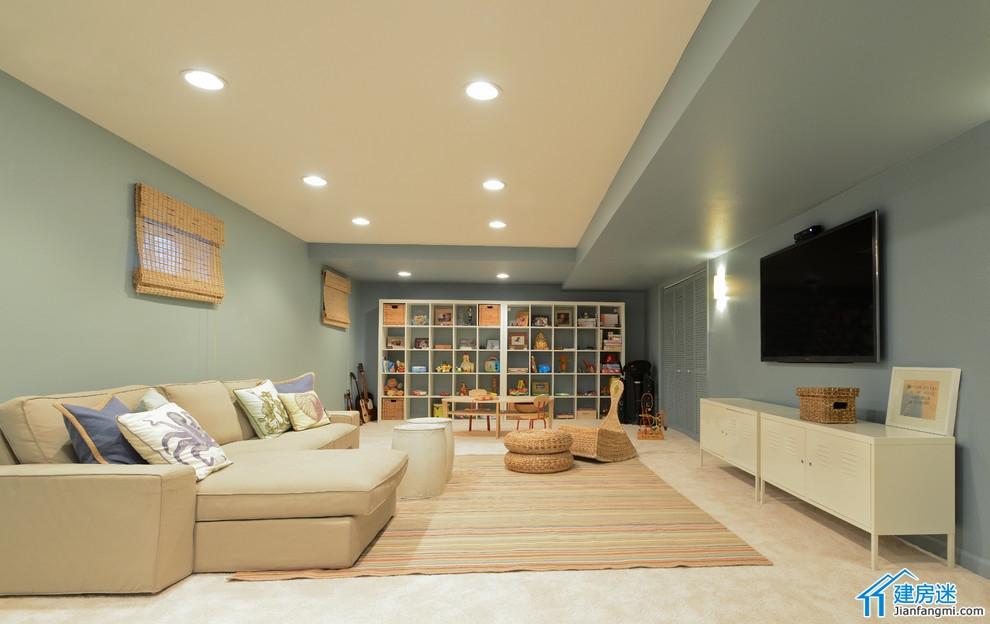 新农村自建房地下室装修效果图,别墅地下室装修都可以