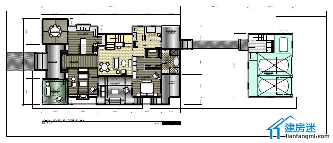 两层小户型农村自建房别墅房屋设计图-带平面图