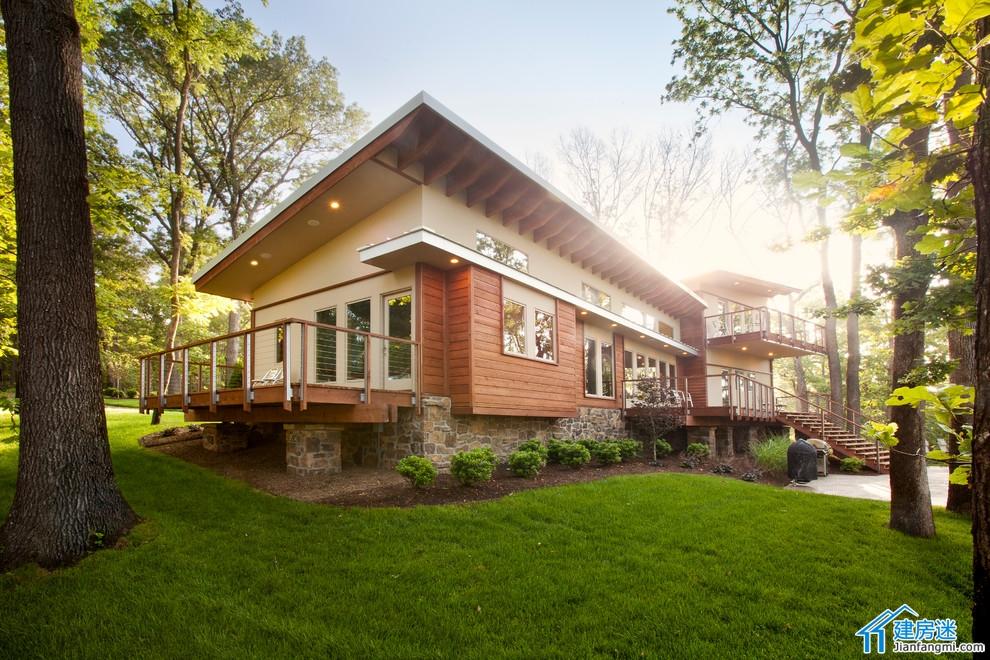 新农村自建房屋设计图,200平米大平层别墅设计图,附平面图