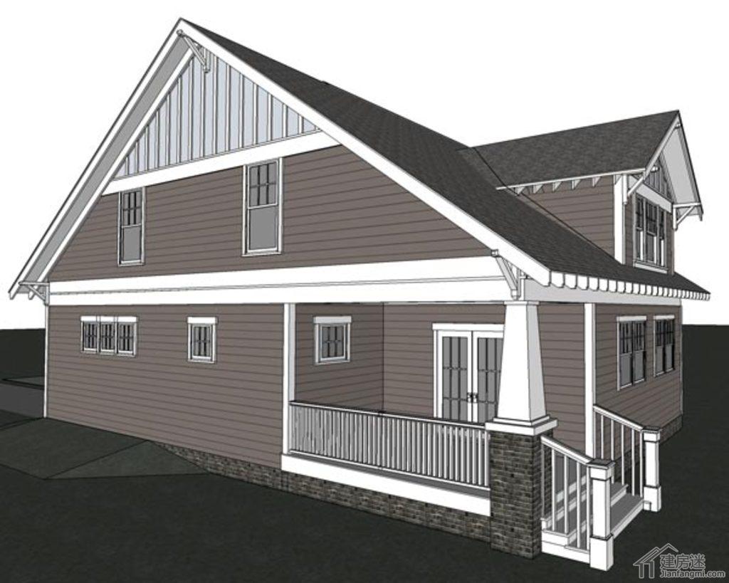 新农村自建房设计图纸免费下载,9米X13米地基经济型两层自建房
