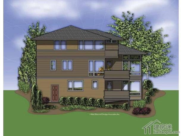 农村盖房子16米X15米两层三大间带地下室房子设计图纸免费下载参考