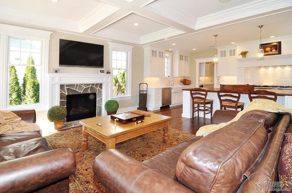 新农村自建房客厅装修效果图,别墅客厅装修都可以参考