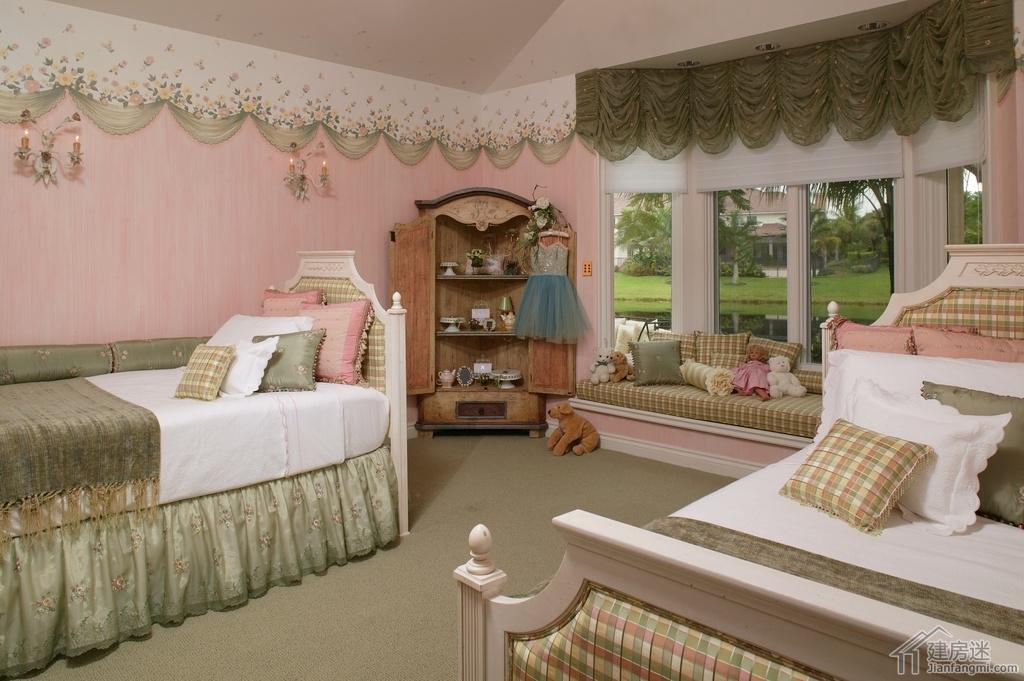 新农村自建房效果图参考之高低床设计,美式儿童房高低床设计大全,