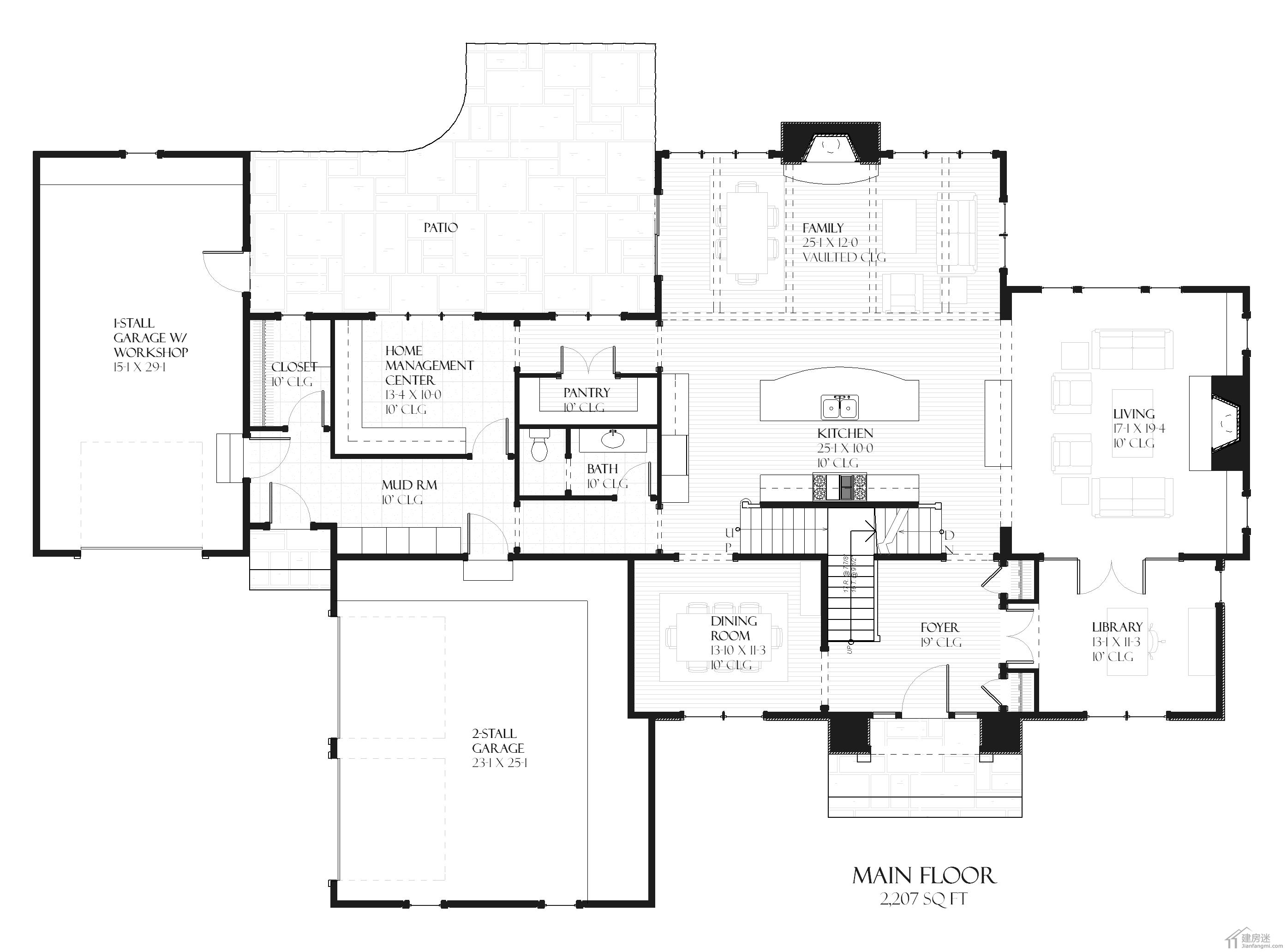 新农村自建房设计图500平米27米x18米两层半地下室还