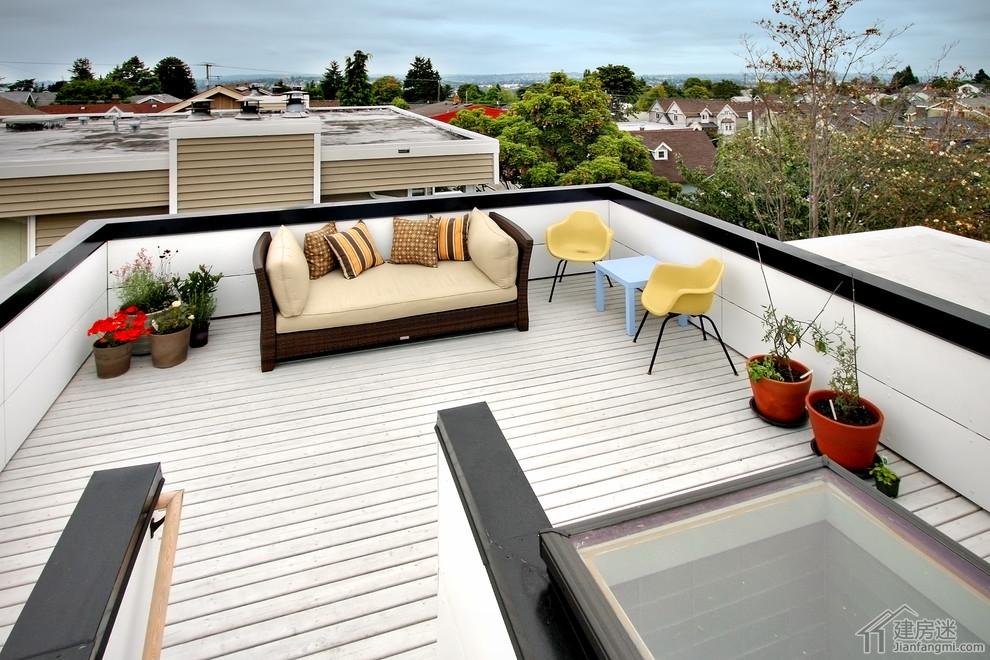 新农村自建房别墅楼顶露台以及庭院装修效果图