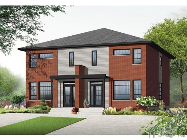 新農村自建房簡約風格12米x13米150平米兩層架空房屋設計圖