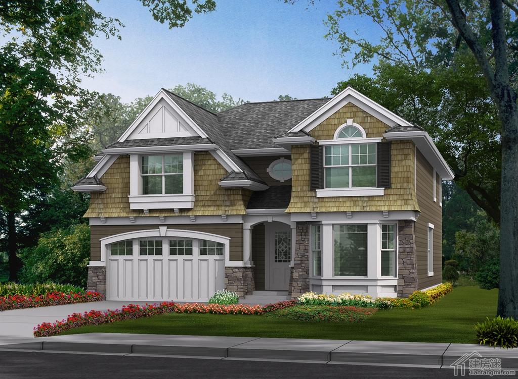 新农村自建房屋设计图12米x12米四房三卫两层双车库