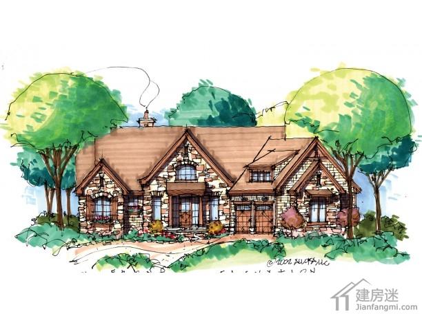 新农村自建房屋设计图20米X20米两层钢结构或者木结构图纸参考