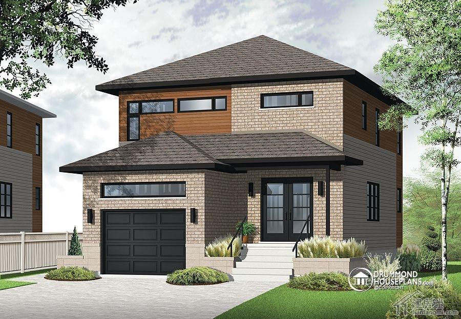 5米两层带车库轻钢结构房屋设计图免费下载
