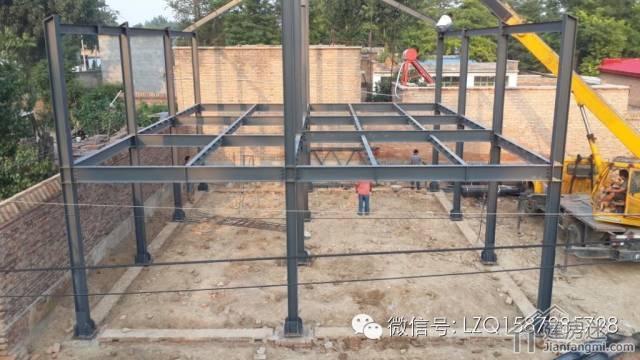 北方农村自建两层h钢结构住宅建造详细过程记录