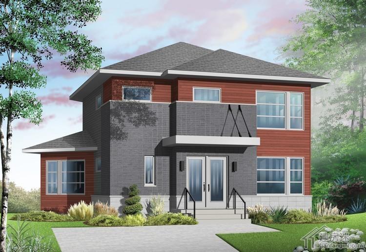 农村自建房10米x10米小户型两层轻钢别墅房屋设计图