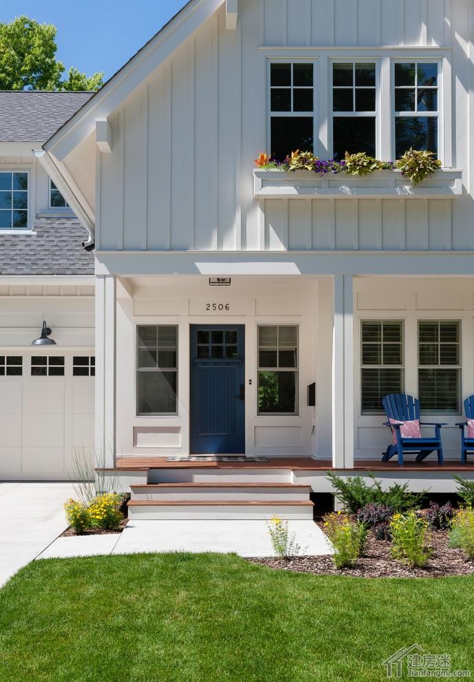 80平米小户型两层农村自建房别墅效果图适合轻钢轻木建造