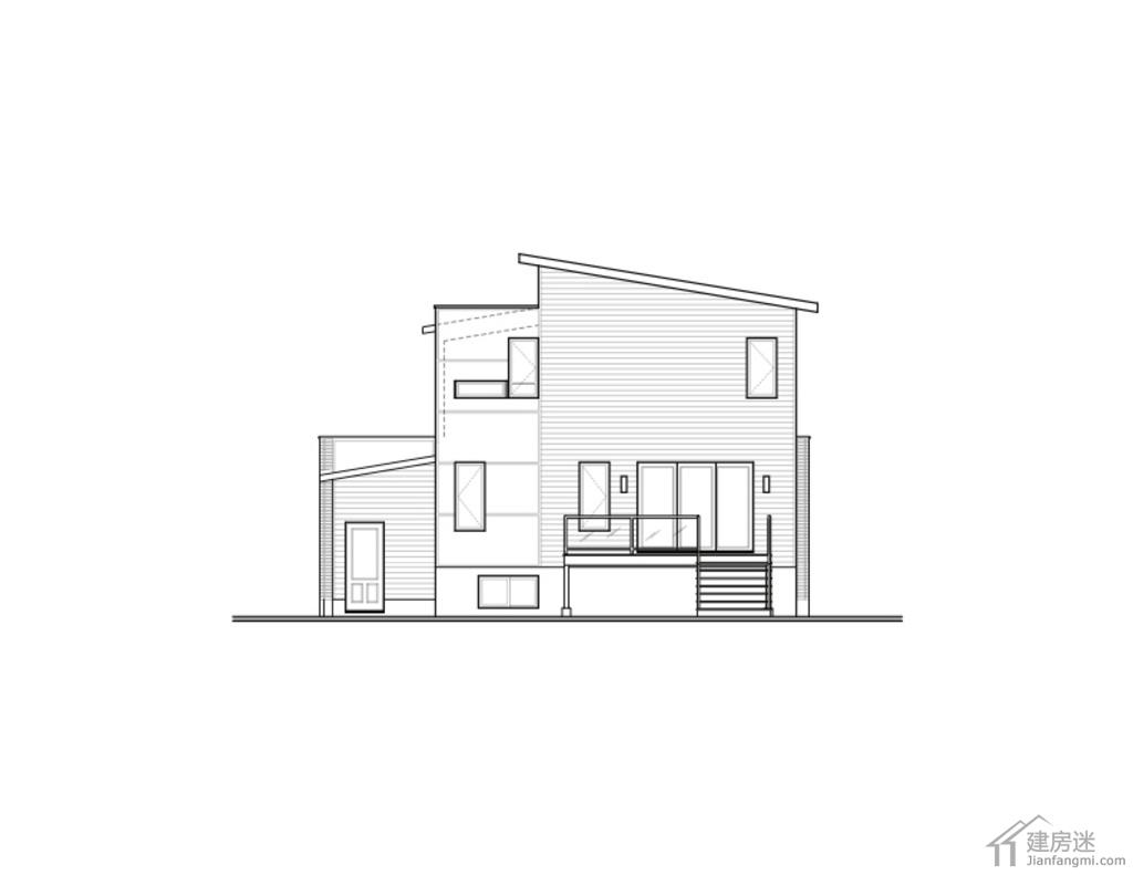 现代风格农村自建房设计图两层占地10.8米x13
