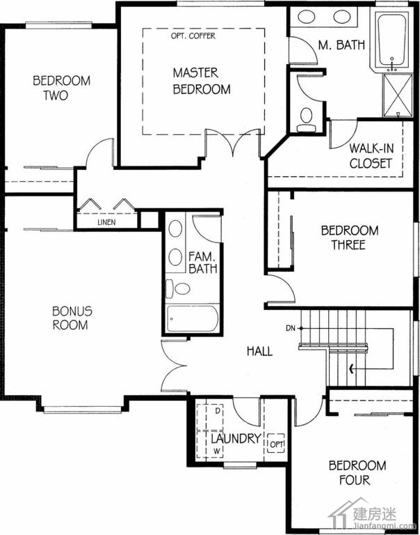 240平米两层美式别墅设计图欣赏农村建豪华别墅参考