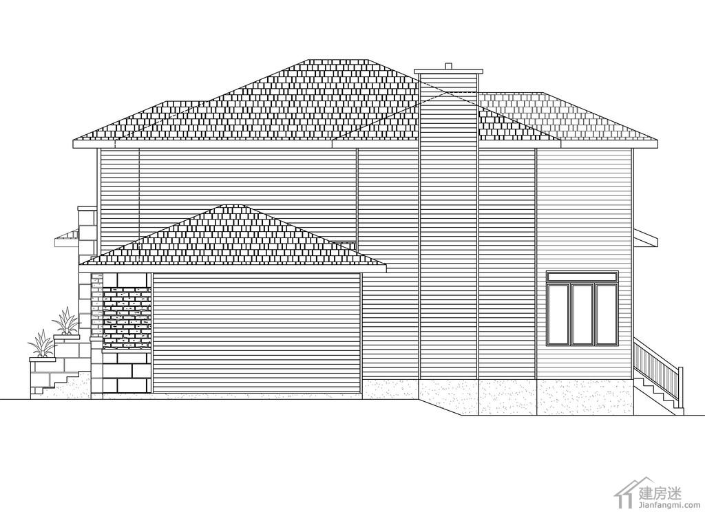2015最新款农村房子设计图15米x13米农村二层小别墅设计图