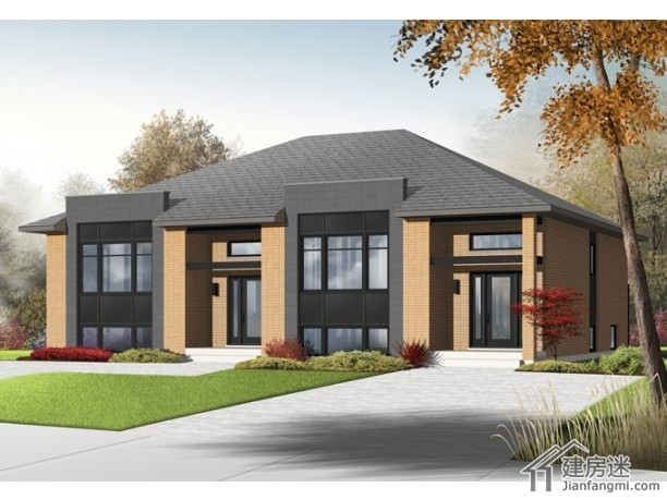 2018年农村小别墅设计图11米x7.5米两层自建房户型图
