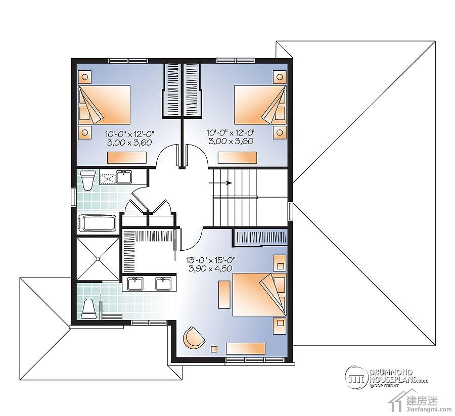 12米x10米自建房屋设计图120平米两层三大间媲美新农村住宅图集精选