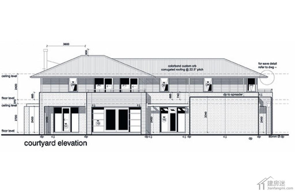 160平米现代风格新农村自建房设计图两层带车库附平面图