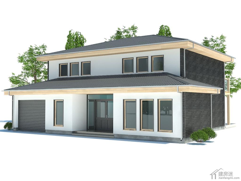 15米x13米新农村自建房设计图190平米三大间两层别墅