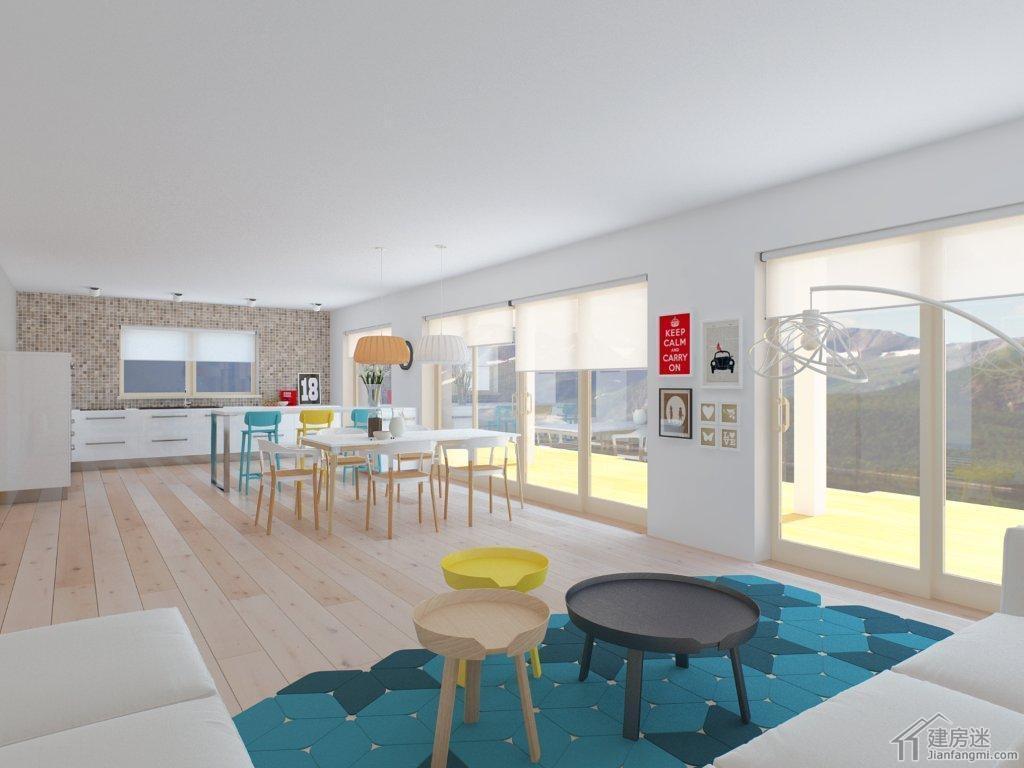 15米X13米新农村自建房设计图190平米三大间两层别墅设计参考