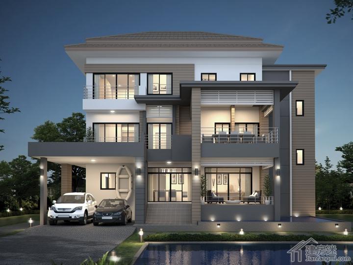新农村自建房土豪级别140平米三层户型设计图免费