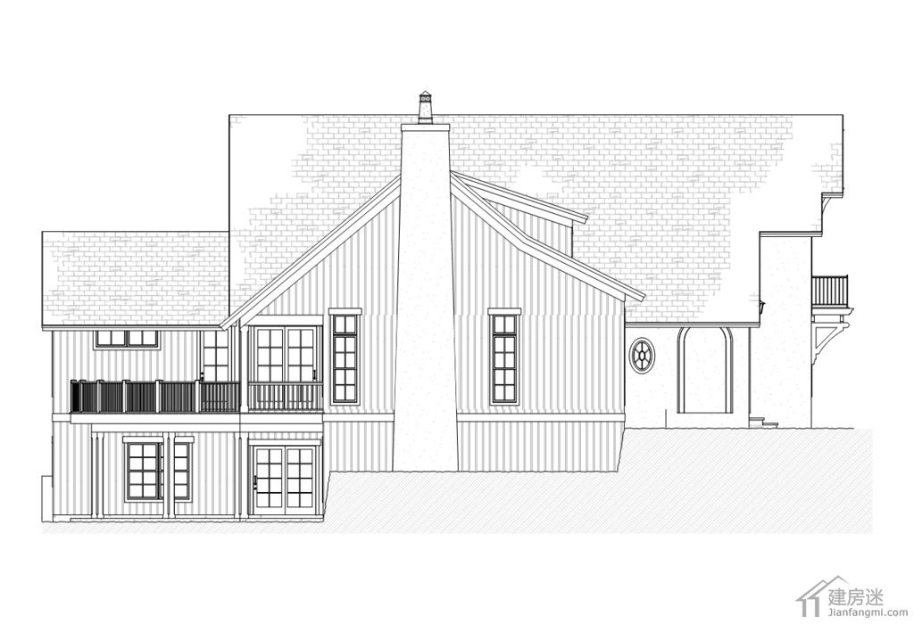新农村自建房美式风格别墅设计图纸16米x20米两层