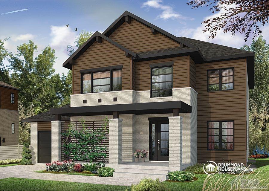 今天这套别墅来自于西雅图,大家知道西雅图是盛产豪宅的地方,今天这套也不例外。 当然人家豪是豪在室内,我们可以学习的是整个房子的内部布局以及结构设计,特别是对于想采用轻钢结构或者是木结构自建房的朋友,这种结构是最适合不过了。 因为这套别墅设计在目前来说是建房迷发布的所有房型中最哇塞的一个,所以我们会用比较大的篇幅来介绍,争取让想回农村建房子的朋友有一个比较全面的了解。  先是正面外观,朝南方向,在南面,很清楚我们只能看到地面两层,在北面,还有一层是属于半地下的  这是北面的庭院,可以看到地下的半层以及地上