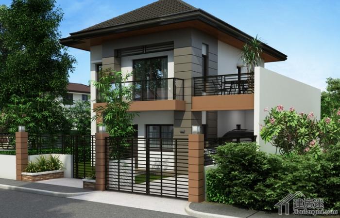 8米x8米两层农村小户型别墅设计70平米自建度假屋