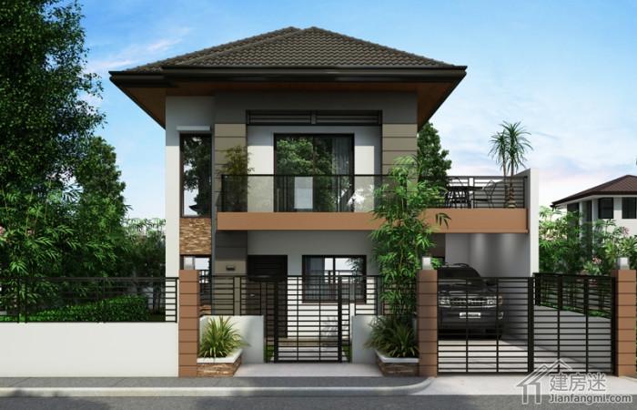 8米X8米两层农村小户型别墅设计70平米自建度假屋设计参考