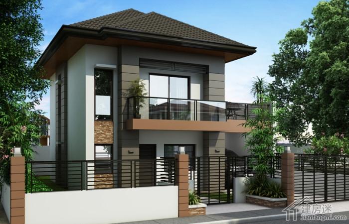 8米x8米两层别墅小别墅户型参考70平米自建设计屋度假设计住农村院子率人西安图片