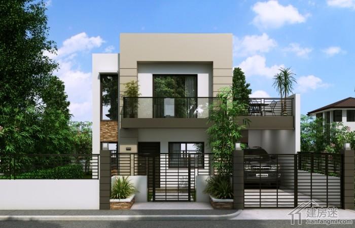 8米x8米两层农村小户型别墅设计70平米自建度假屋设计