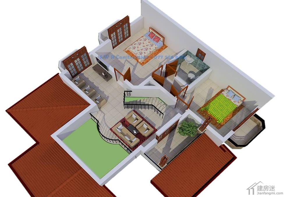 兩層經濟型小別墅設計圖自建房10米x10米100平米參考