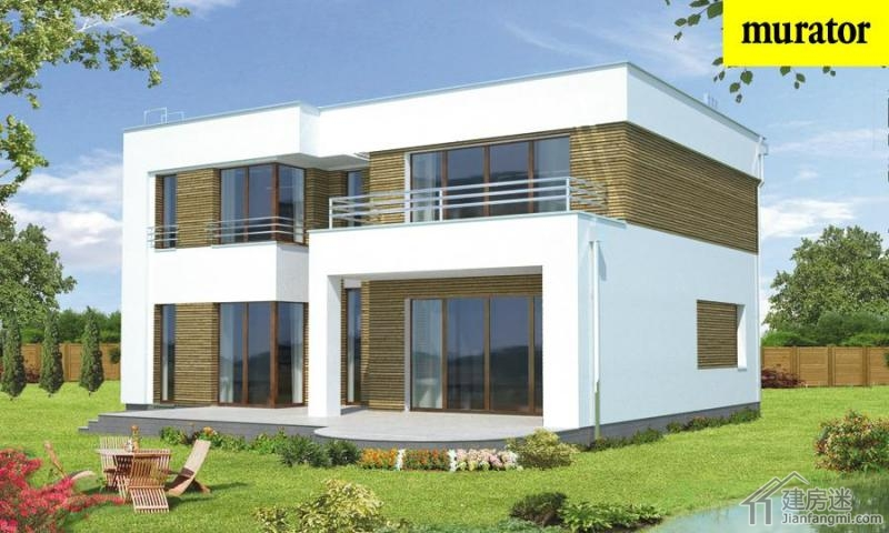 新农村自建房12米X12米适合南方两层平顶房屋设计图