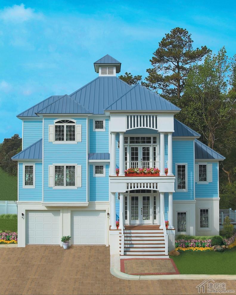 农村自建轻钢别墅两层带地下室13米x10米设计图含