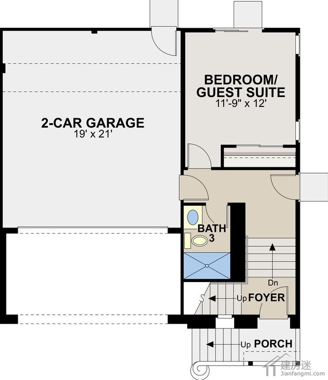 三层地基70平米左右8米x9米轻钢结构自建房设计图