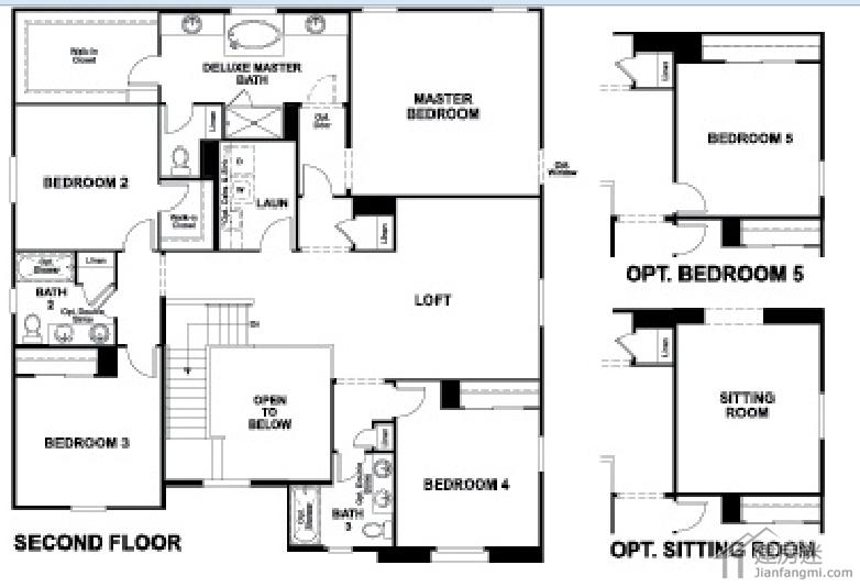 新农村二层房屋设计图美式风格150平米建房参考-建房