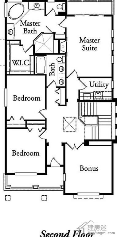现代简约风格120平米两层带地下室房屋设计图轻钢