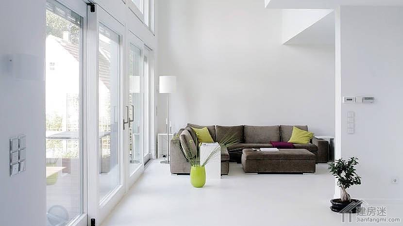 德国欧式现代简约风格两层100平米别墅设计图适合