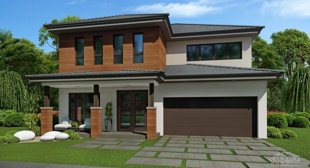 新农村自建房三大间两层10米X13米130平米轻钢轻木结构自建房设计图