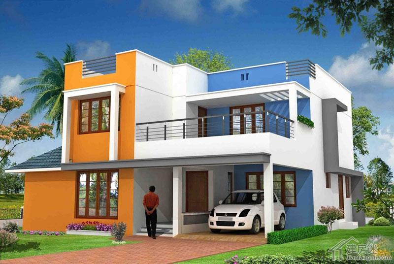 亚风格自建房屋设计图两层120平米现代风格参考