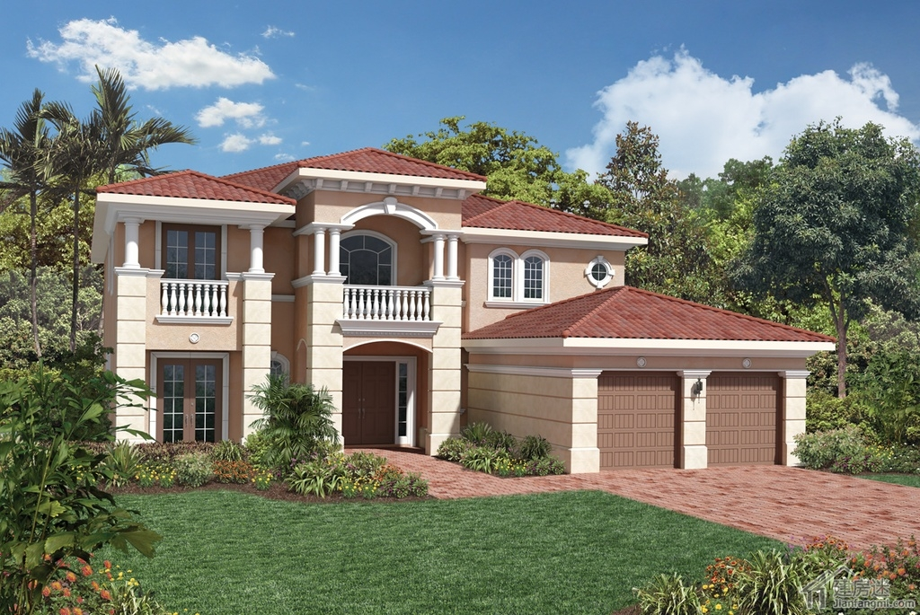 级别农村自建房屋设计图200平米地基两层豪华别墅