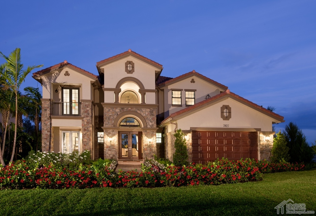 土豪级别农村自建房屋设计图200平米地基两层豪华别墅设计图