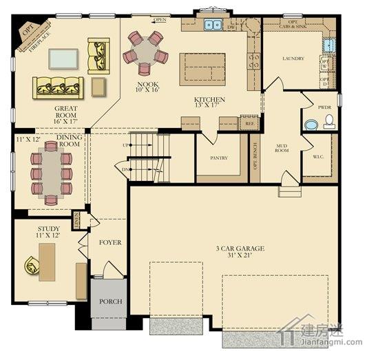 农村自建房15米x10米两层带地下室轻钢结构房屋设计