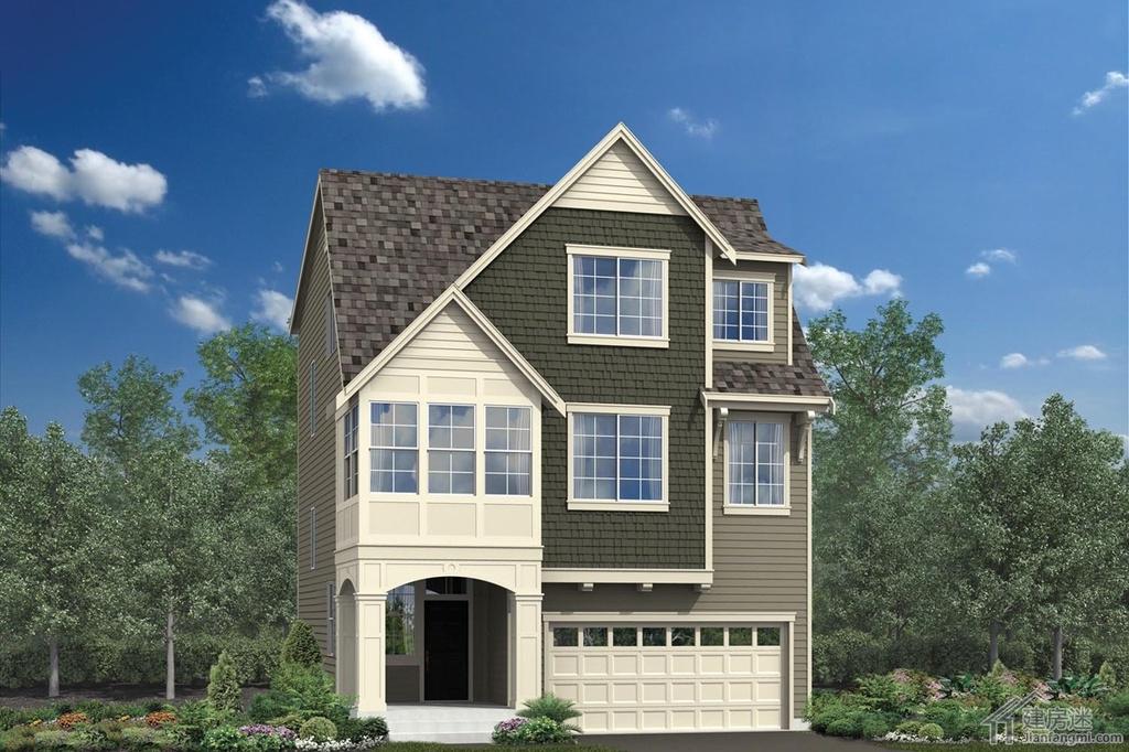 建房迷自建房80平米经济型小户型三层轻钢结构别墅