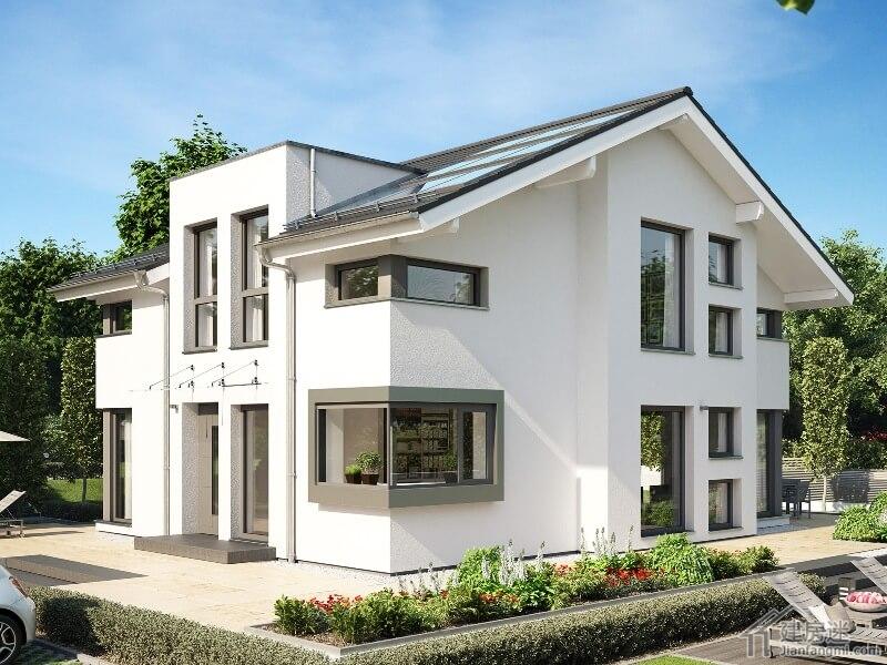 德国两层小户型别墅设计图9米x10米农村自建房欧式简洁风格参考