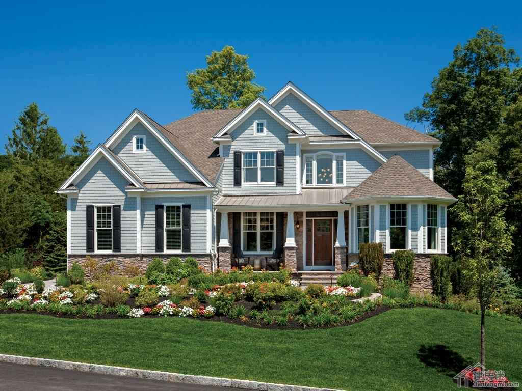 农村房子设计图16米x12米两层美式农场风格轻钢结构首选