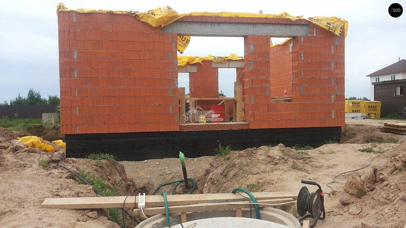 农村自建小户型经济别墅8米x8米两层70平米欧式小别墅